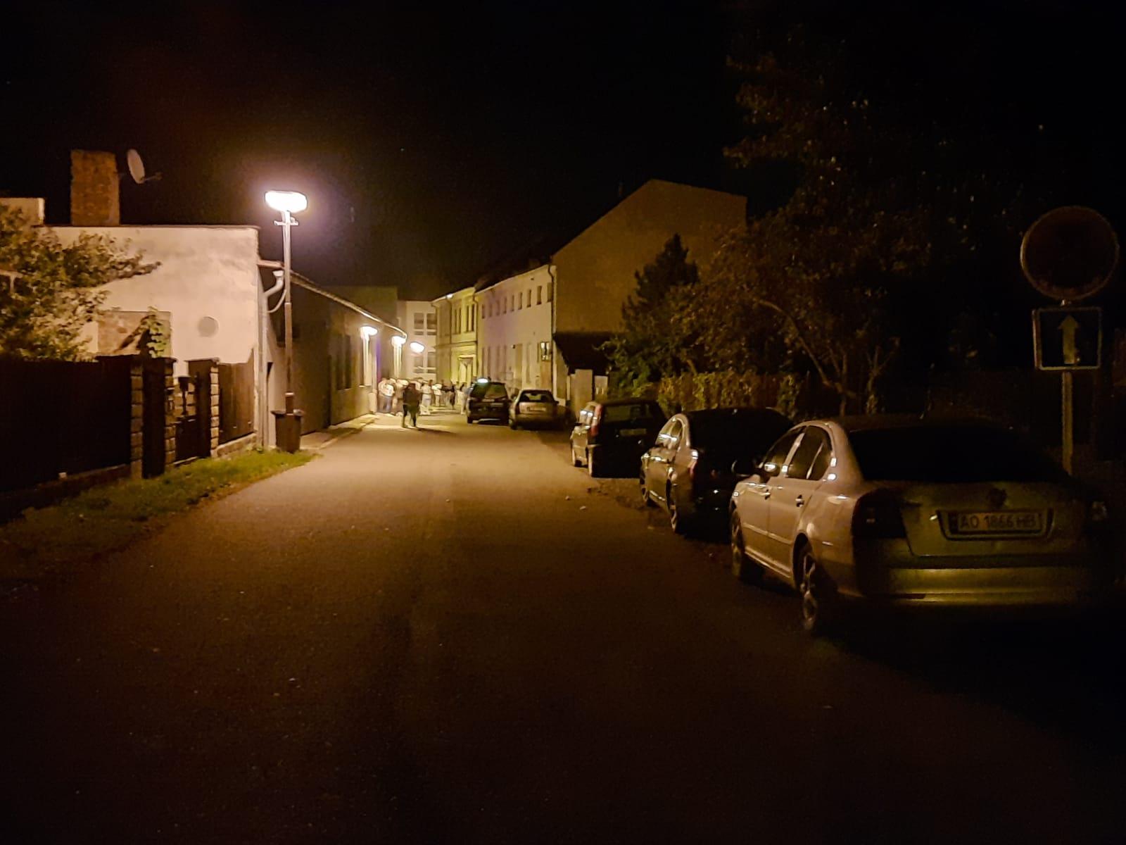 Noční řádění v Humpolci – ul. V Brance